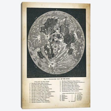 Moon Map Canvas Print #PAT92} by PatentPrintStore Canvas Art Print