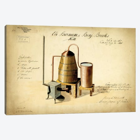 Moonshine Still Canvas Print #PAT93} by PatentPrintStore Canvas Art Print