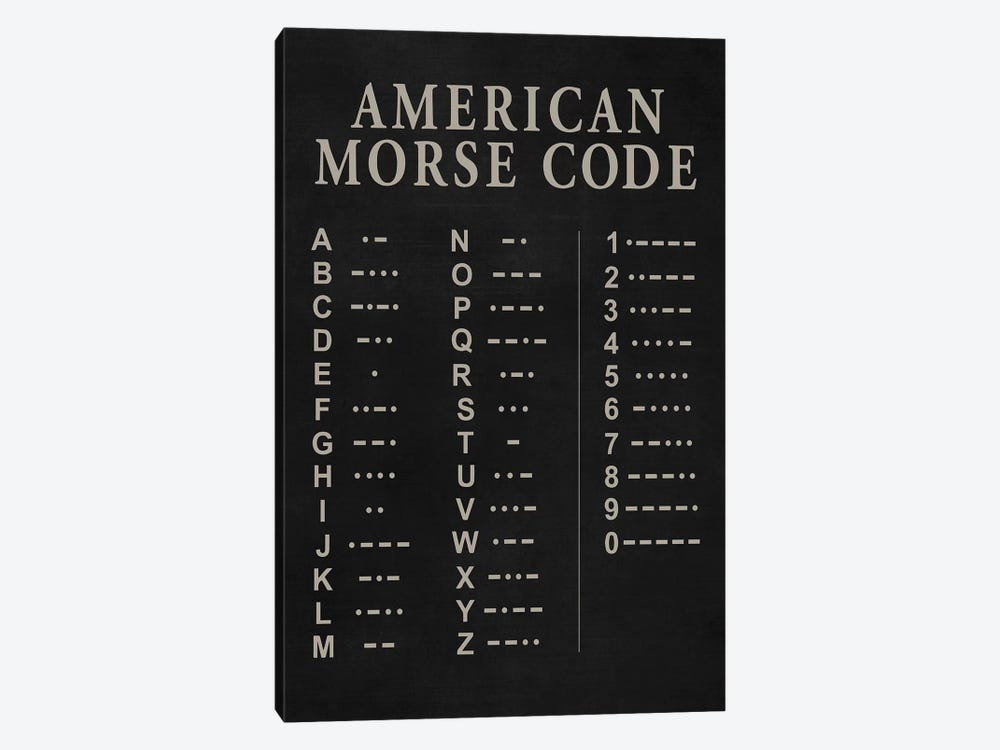 Morse Code by PatentPrintStore 1-piece Canvas Print