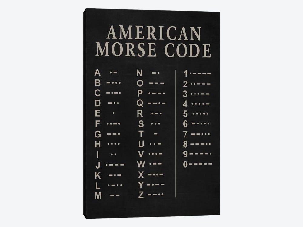 Morse Code by PatentPrintStore 1-piece Canvas Print