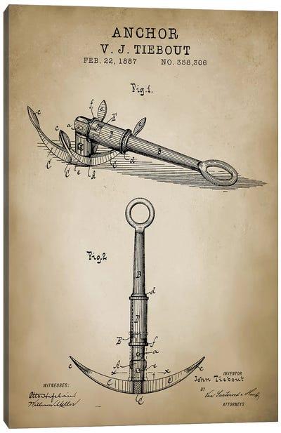 Nautical, Anchor Canvas Art Print
