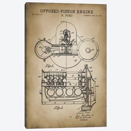 Opposed-Piston Engine Canvas Print #PAT99} by PatentPrintStore Art Print