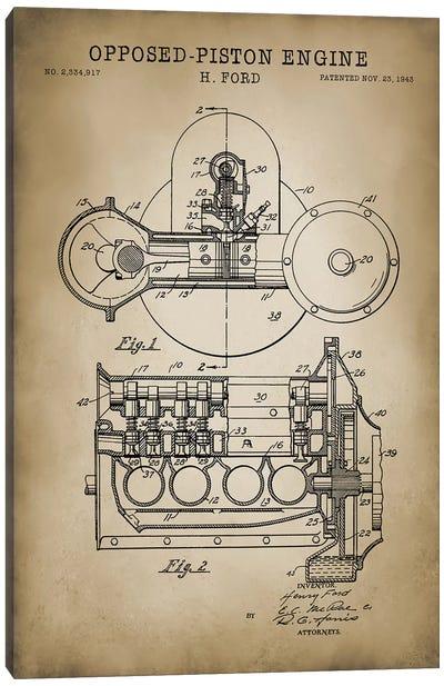 Opposed-Piston Engine Canvas Art Print