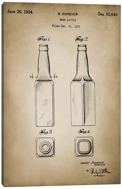 Beer Bottle Canvas Art Print
