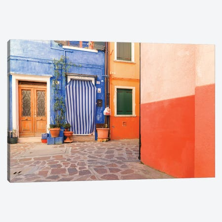 Burano, Italy, Colourful Canvas Print #PAU100} by Mark Paulda Canvas Art