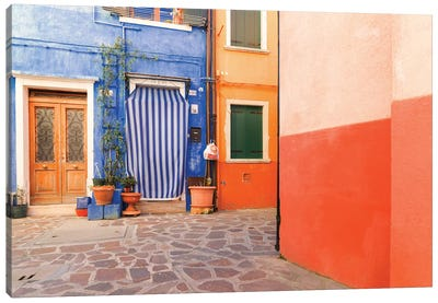 Burano, Italy, Colourful Canvas Art Print