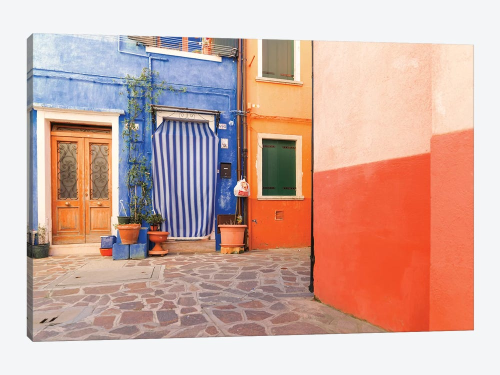 Burano, Italy, Colourful by Mark Paulda 1-piece Canvas Print