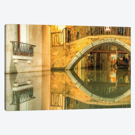Venice, Italy, Canal Reflection Canvas Print #PAU102} by Mark Paulda Canvas Artwork