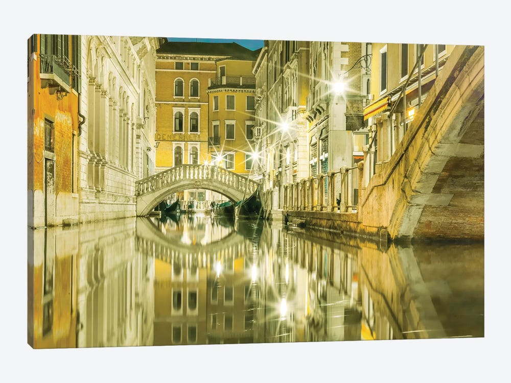 Venice, Italy, Canal Reflections by Mark Paulda 1-piece Canvas Art