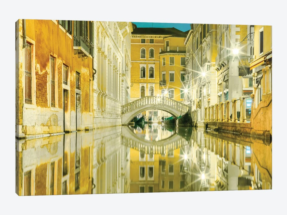 Venice, Italy, Yellow Reflections by Mark Paulda 1-piece Art Print