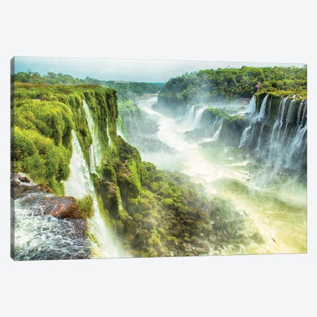 Iguazu Falls XIX Canvas Print #PAU10} by Mark Paulda Canvas Artwork