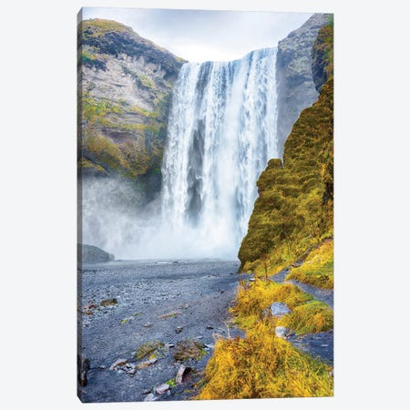 Iceland Skogafoss Waterfall Canvas Print #PAU112} by Mark Paulda Art Print