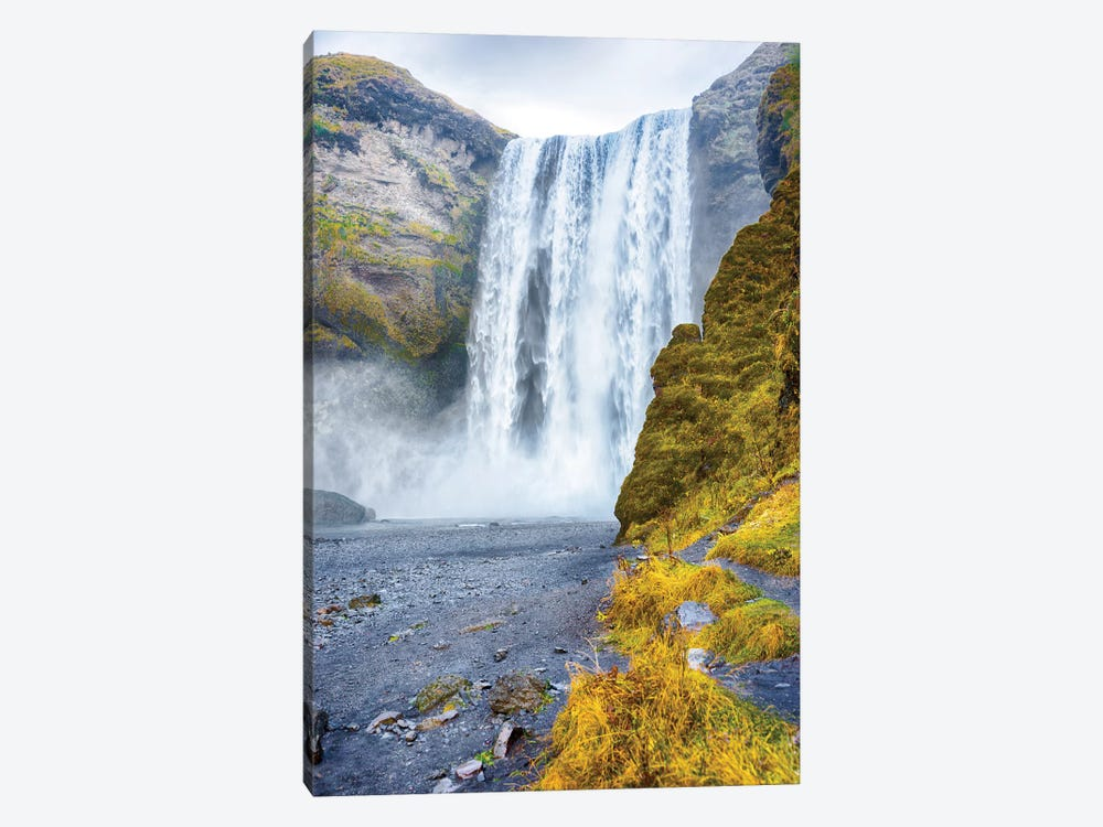 Iceland Skogafoss Waterfall by Mark Paulda 1-piece Canvas Art