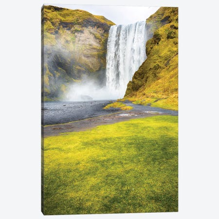 Iceland Skogafoss Canvas Print #PAU113} by Mark Paulda Canvas Art Print