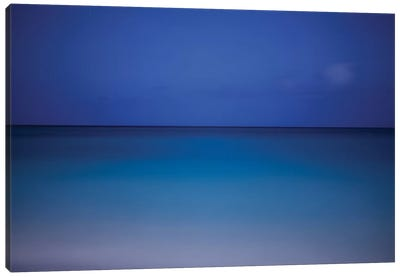Aruba - Caribbean Sea - Full Moon Canvas Art Print