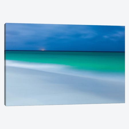 Aruba During Full Moon Canvas Print #PAU119} by Mark Paulda Canvas Art Print