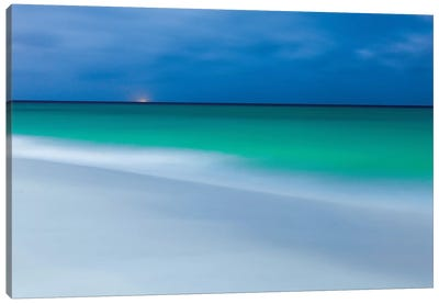 Aruba During Full Moon Canvas Art Print