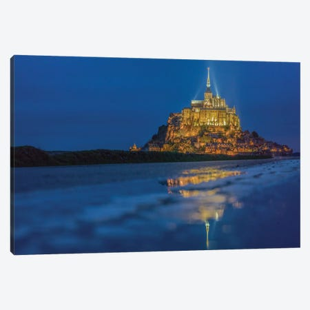 Le Mont Saint-Michel I, Normandy, France Canvas Print #PAU11} by Mark Paulda Canvas Art