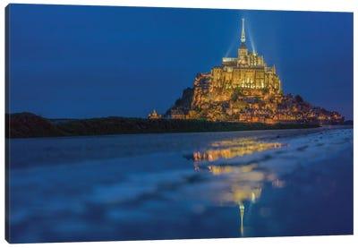 Le Mont Saint-Michel I, Normandy, France Canvas Print #PAU11