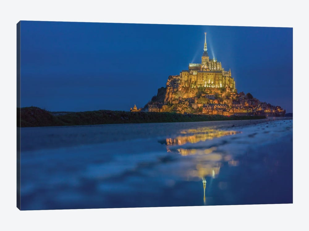 Le Mont Saint-Michel I, Normandy, France by Mark Paulda 1-piece Canvas Print
