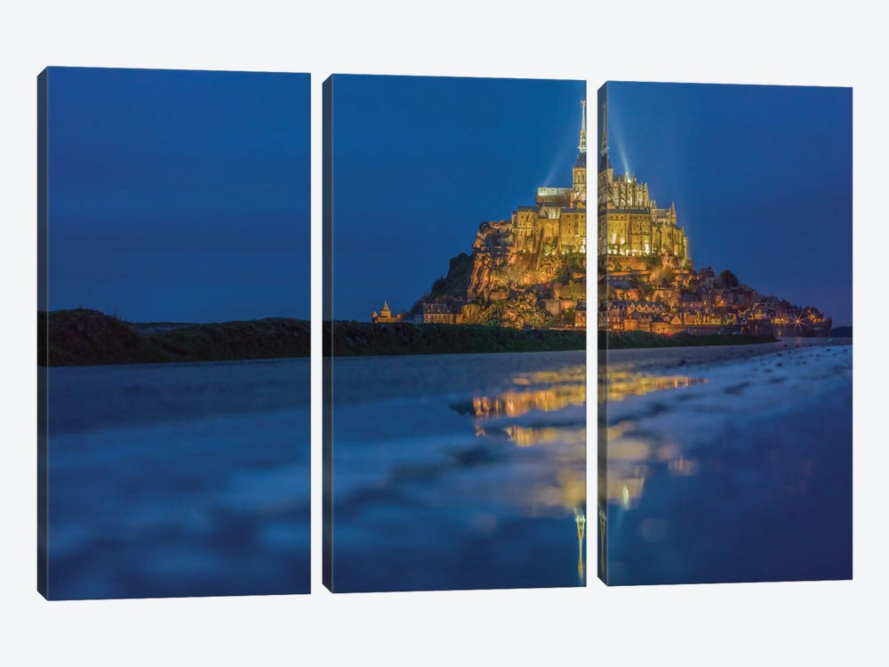 Le Mont Saint-Michel I, Normandy, France by Mark Paulda 3-piece Canvas Art Print