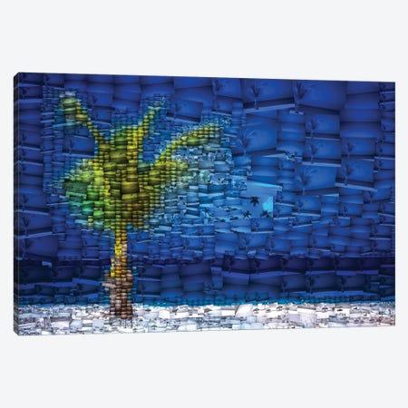 Aruba Palm - Mosaic Canvas Print #PAU120} by Mark Paulda Canvas Wall Art