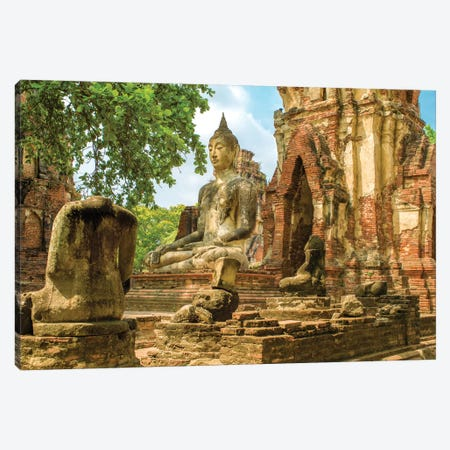 Ayutthaya Buddha Canvas Print #PAU126} by Mark Paulda Canvas Art Print