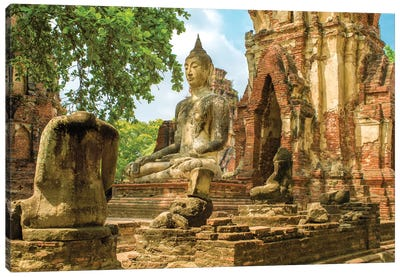 Ayutthaya Buddha Canvas Art Print