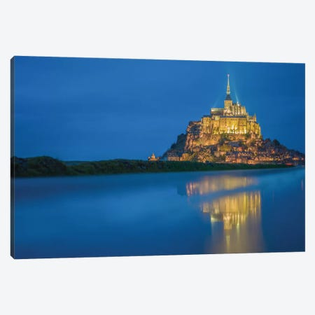 Le Mont Saint-Michel II, Normandy, France Canvas Print #PAU12} by Mark Paulda Canvas Wall Art