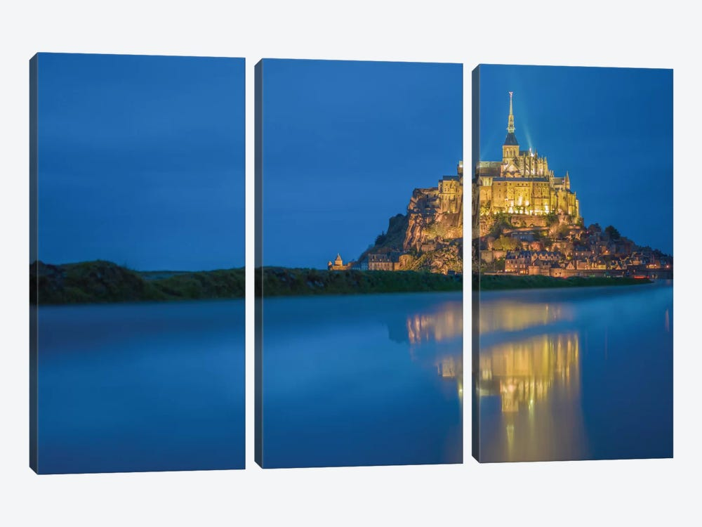 Le Mont Saint-Michel II, Normandy, France by Mark Paulda 3-piece Canvas Wall Art