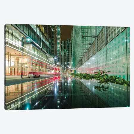 Canary Wharf Reflection - London Canvas Print #PAU153} by Mark Paulda Canvas Print