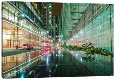 Canary Wharf Reflection - London Canvas Art Print