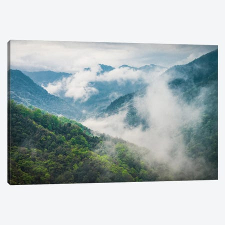 Clouds Rolling Through The Himalayas Canvas Print #PAU157} by Mark Paulda Canvas Artwork