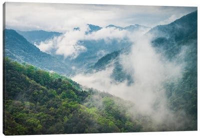 Clouds Rolling Through The Himalayas Canvas Art Print