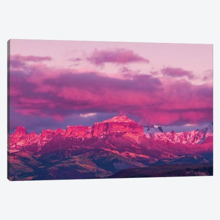 Colorado Pink Sunset Canvas Print #PAU159} by Mark Paulda Canvas Art Print