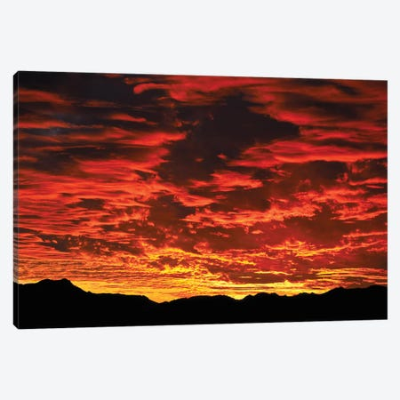 Fire In The Sky Sunset Canvas Print #PAU169} by Mark Paulda Canvas Artwork