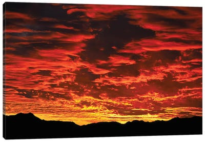 Fire In The Sky Sunset Canvas Art Print