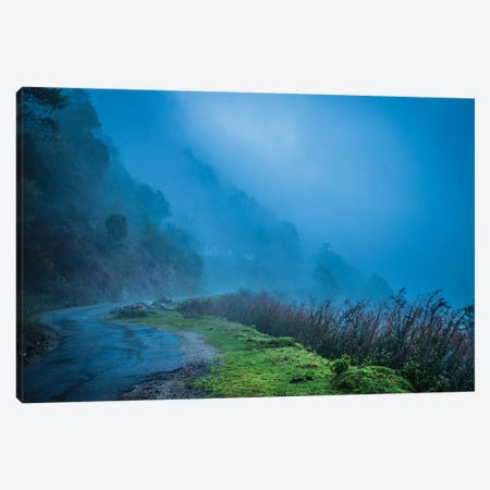 Foggy Himalaya Mountain Road Canvas Print #PAU171} by Mark Paulda Art Print