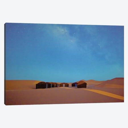 Full Moon In The Sahara Canvas Print #PAU173} by Mark Paulda Canvas Art Print