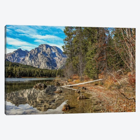 Grand Teton Reflection Canvas Print #PAU176} by Mark Paulda Canvas Wall Art