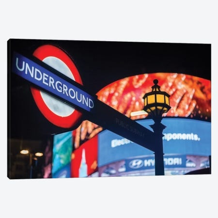 Piccadilly Circus Canvas Print #PAU17} by Mark Paulda Canvas Art Print