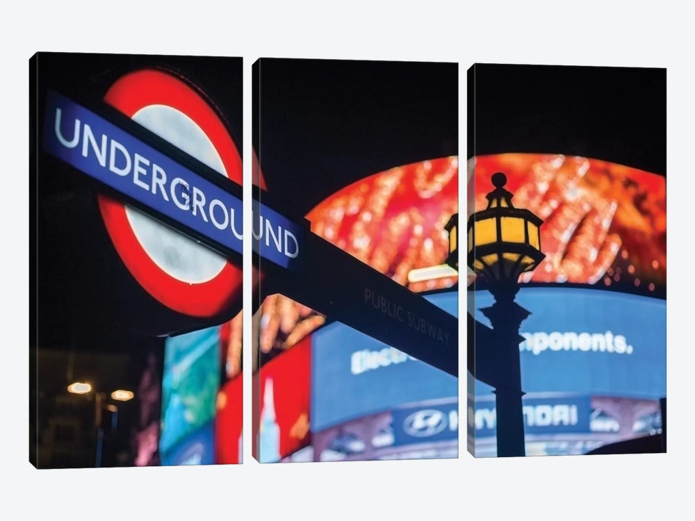 Piccadilly Circus 3-piece Canvas Art Print