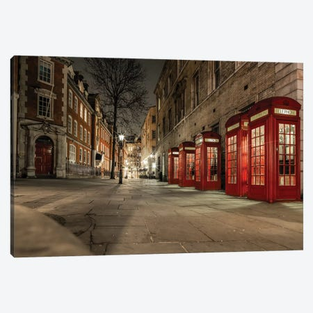 Iconic Red Phone Box - London 3-Piece Canvas #PAU181} by Mark Paulda Canvas Art