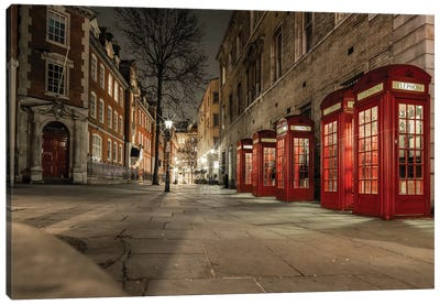 Iconic Red Phone Box - London Canvas Art Print