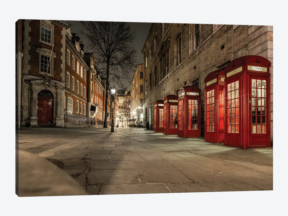 Iconic Red Phone Box - London by Mark Paulda 1-piece Canvas Art