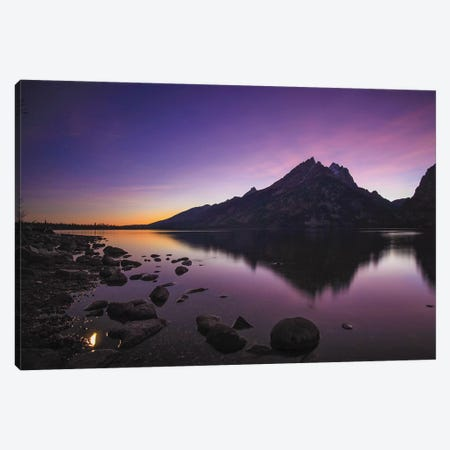Jenny Lake Full Moon Canvas Print #PAU183} by Mark Paulda Canvas Wall Art
