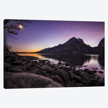 Jenny Lake Twilight Canvas Print #PAU184} by Mark Paulda Canvas Print