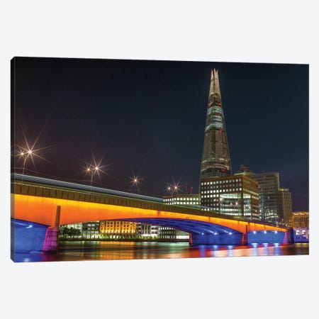 London Bridge And The Shard Canvas Print #PAU187} by Mark Paulda Canvas Art Print