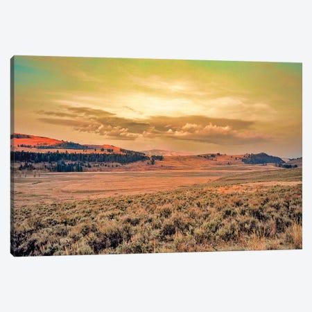 Yellowstone Sunset Canvas Print #PAU198} by Mark Paulda Art Print