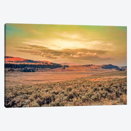 Yellowstone Sunset Canvas Print #PAU198} by Mark Paulda Art Print